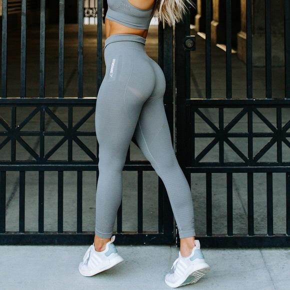 6f4a82e8d28ab4 Gymshark Pants | Light Grey Seamless Leggings | Poshmark